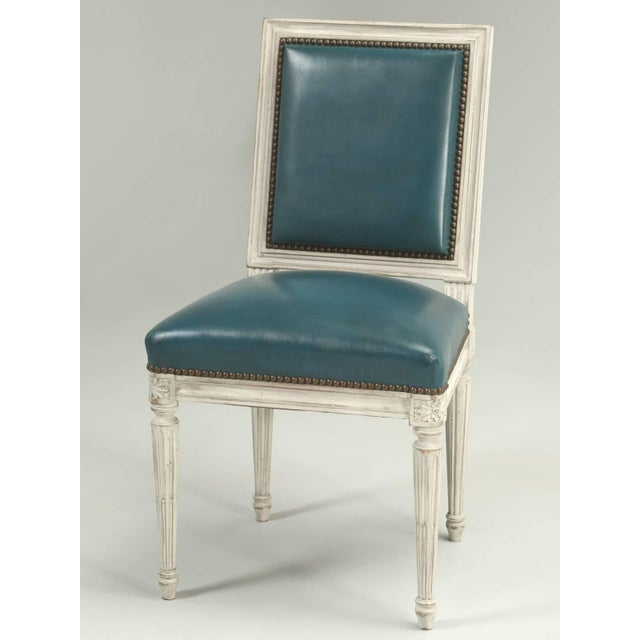 French Louis XVI Style Dining Chairs - Set of 6 For Sale - Image 11 of 12