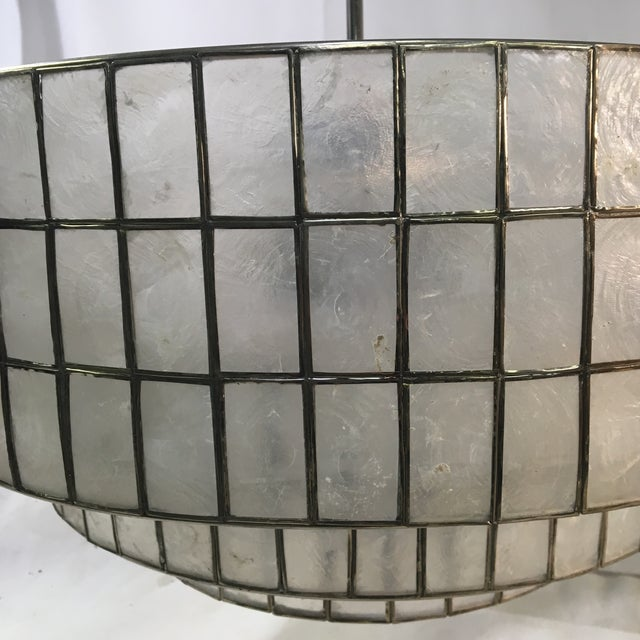 West Elm Three-Light Tiered Modern Chandelier Light For Sale - Image 9 of 11