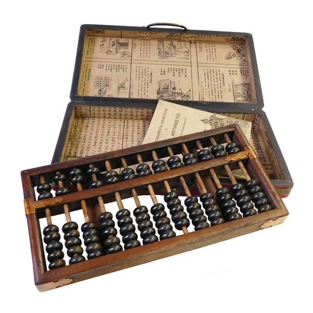 Chinese Red Rectangular Box & Abacus - Image 1 of 3