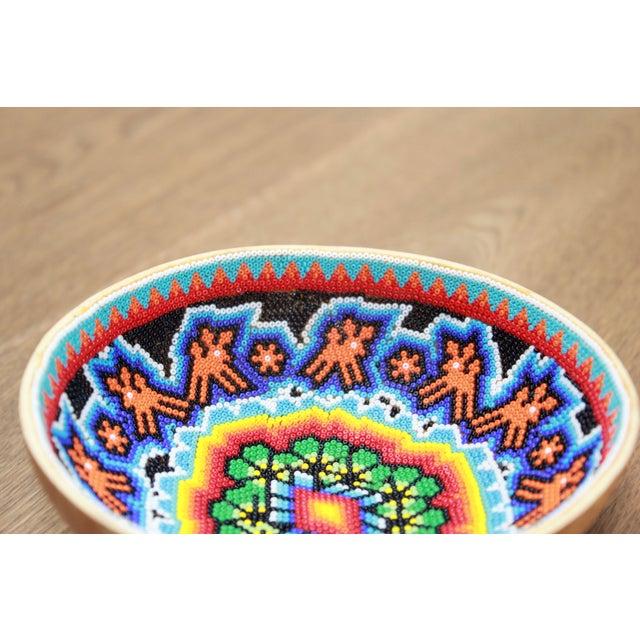 Huichol Ceremonial Beaded Bowl - Image 3 of 5