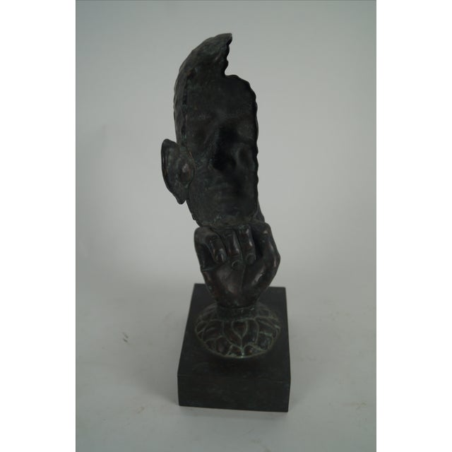 Maitland Smith Bronze Hands & Face Sculpture For Sale - Image 5 of 10