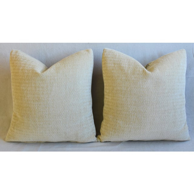"Designer Travers Tree of Life Linen Feather/Down Pillows 21"" Square - Pair For Sale - Image 10 of 13"
