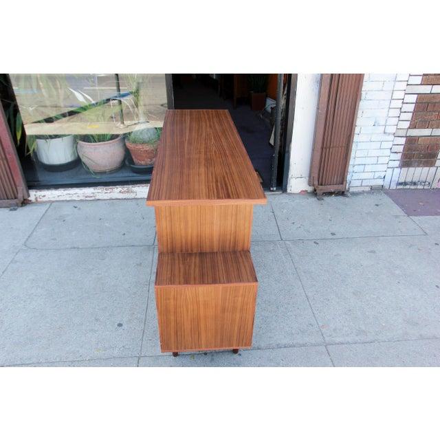 Mid-Century Modern Mid-Century Modern Brown Walnut Deep Zig-Zag Bookcase For Sale - Image 3 of 11