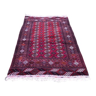 Turkomen Area Red Rug For Sale