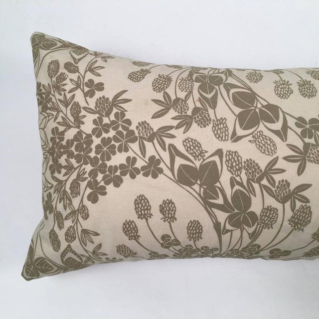 Original Folly Cove Designers Hand Block Printed Clover Pillow - Image 3 of 9