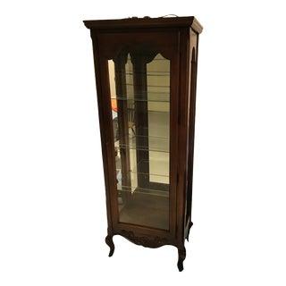 1970's Vintage Hekman Curio Cabinet For Sale