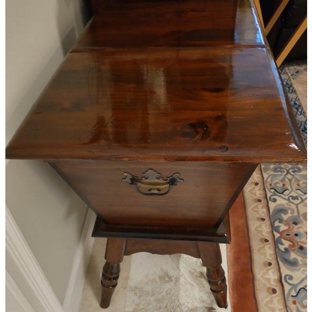 Rustic Vintage Sugar Pine Dough Trough End Table For Sale - Image 3 of 7