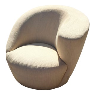 "1970s Vintage Vladimir Kagan for Directional ""Nautilus"" Swivel Club Chair For Sale"