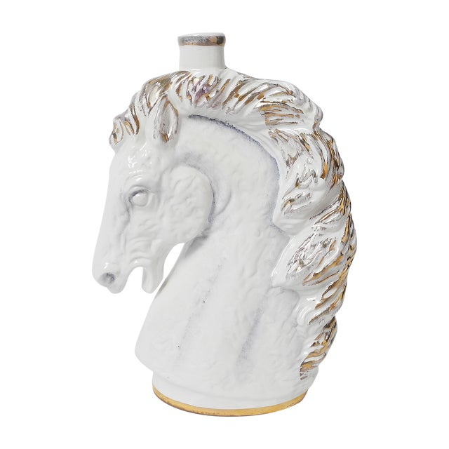 Italian Borghini White Wine Horse Head Decanter For Sale