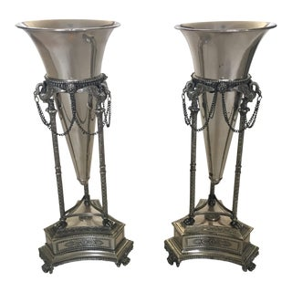 Neoclassical Style Vases - A Pair For Sale