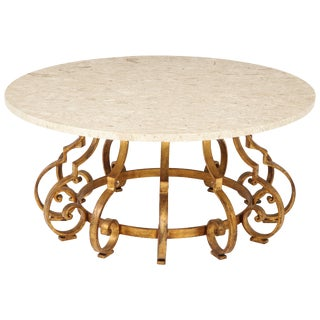 1960s Hollywood Regency Palladio Gilt Coffee Table For Sale