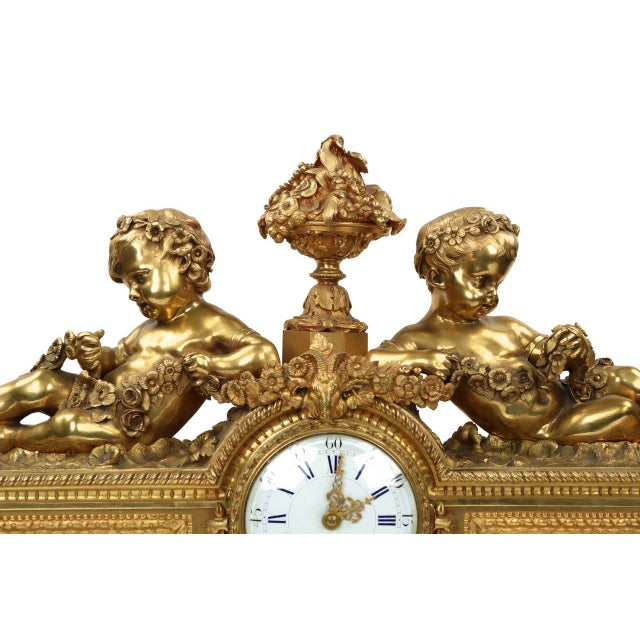 Gilt Bronze & Porcelain Mantel Clock - Image 6 of 11