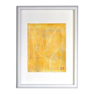 """""""Hibiki 37"""" Yellow Botanical Painting"""