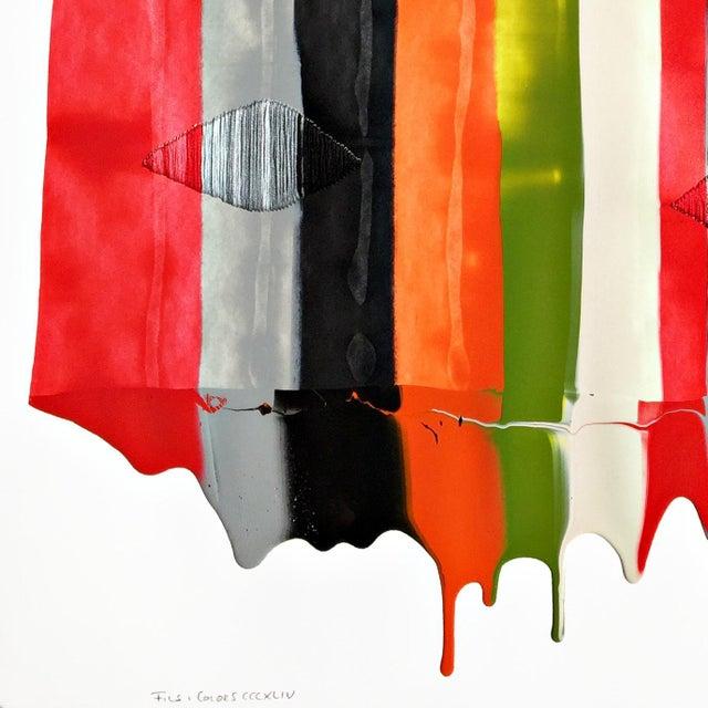 """Fils I Colors Cccxliv"" Original Artwork by Raul De La Torre For Sale - Image 4 of 6"