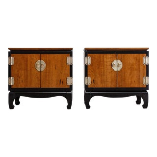 1970s Vintage Mid Century Lane Chinoiserie Nightstands-a Pair For Sale