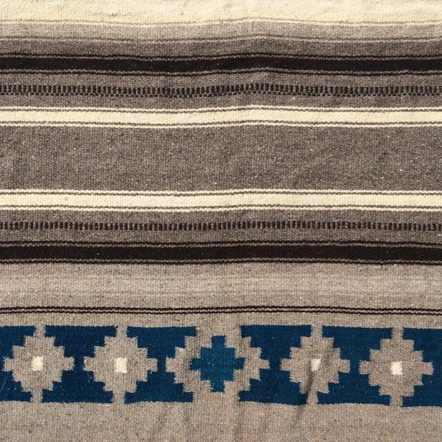 """Vintage Navajo Style Blanket Rug - 4'9"""" X 9"""" - Image 8 of 10"""