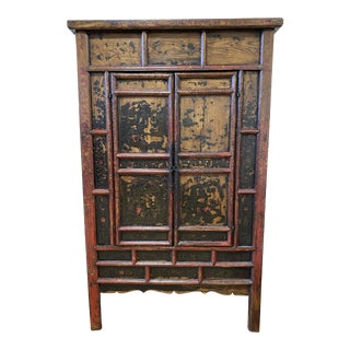 Late 19th Century Chinese Lacquered Armoire For Sale