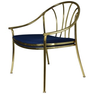 20th Century French Vintage Brass Armchair, 1970-1980 For Sale
