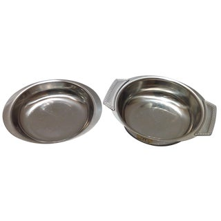 Swedish Stainless Steel Serving Dishes - A Pair For Sale