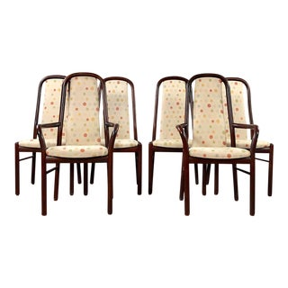 Mid Century Modern Dyrlund Rosewood Dining Chairs- Set of 6 For Sale