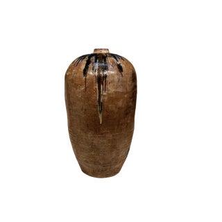 Primitive Brown Ceramic Pot For Sale