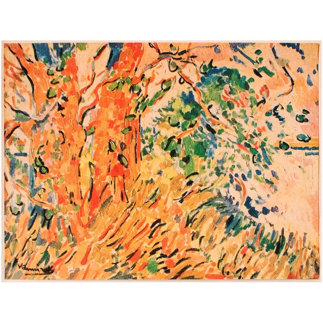 "Lithograph 1948 Maurice De Vlaminck, Original Period Lithograph ""The Plane Trees"" For Sale - Image 7 of 8"