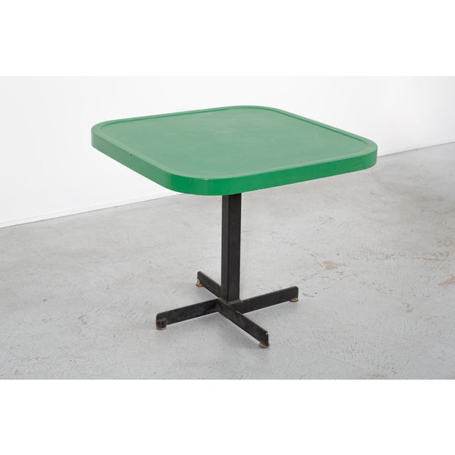 Les Arcs Enameled Green Table by Charlotte Perriand For Sale - Image 9 of 9