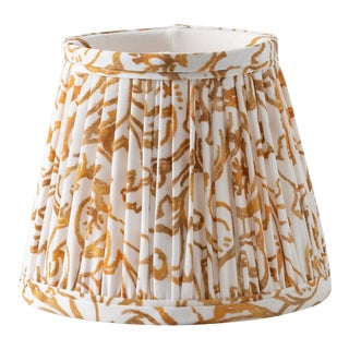"Dragon Gilt in White 16"" Lamp Shade, White For Sale"
