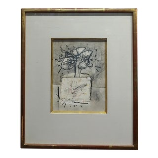 1960s Vintage Untitled Abstract MIX Media Painting by Norman Zammitt For Sale