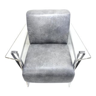 Bespoke Modernist Lucite Acrylic Lounge Armchair - in Showroom For Sale