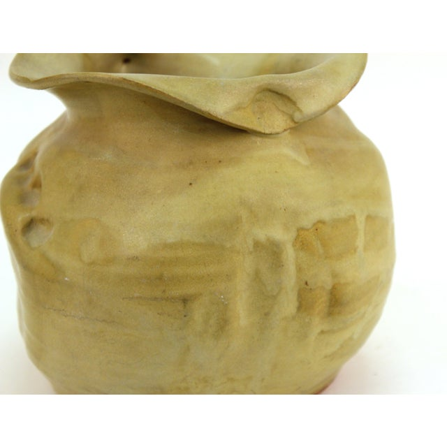 Mid 20th Century American Modern Art Studio Pottery Vase For Sale - Image 5 of 9