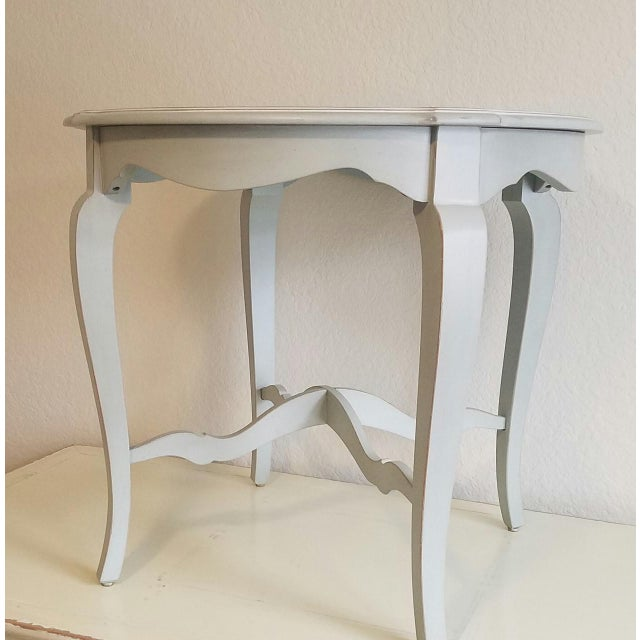 "Amazing ETHAN ALLEN ""FABIAN"" Accent table. This wonderful side table is done in a gorgeous ""Robin's Egg Blue"" painted..."