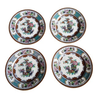 Set of Four Antique Transferware Plates For Sale