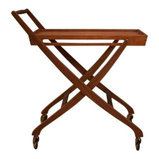 Danish Modern Teak Folding Bar Cart For Sale