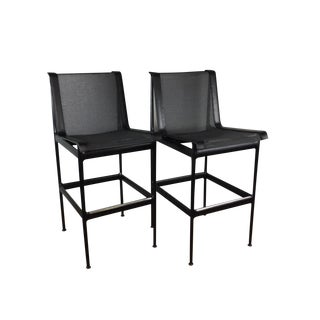Richard Schultz Bar or Counter Stools - a Pair