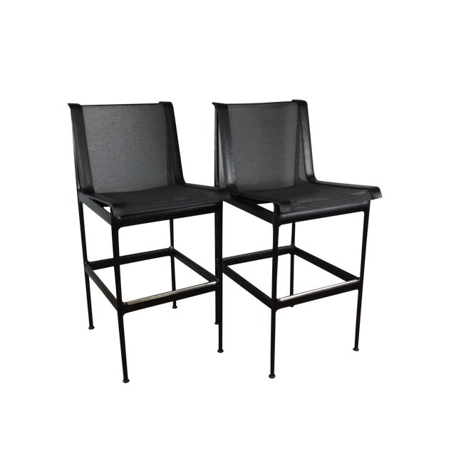 Richard Schultz Bar or Counter Stools - a Pair For Sale