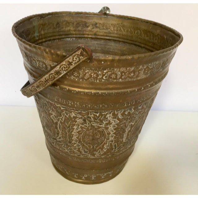 Mid 19th Century Anglo-Raj Mughal Bronzed Copper Vessel Bucket For Sale - Image 5 of 12