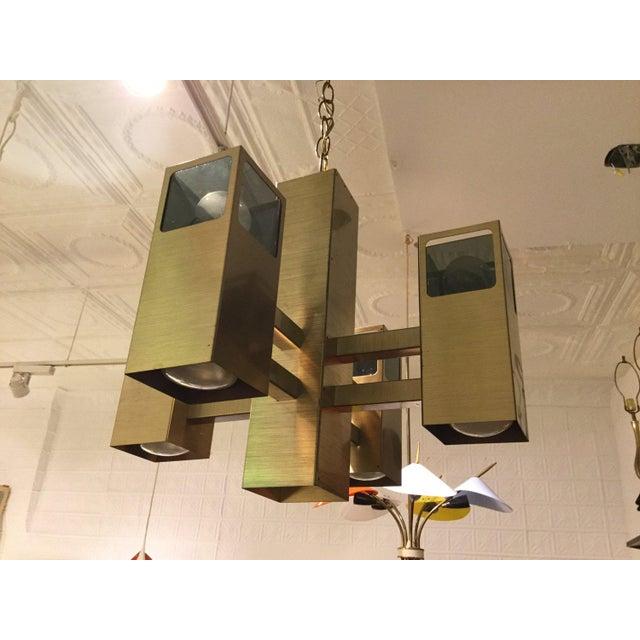 Mid-Century Modern Robert Sonneman 9 Light Chandelier For Sale - Image 3 of 3