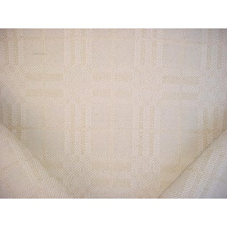 Ralph Lauren Lcf68462f Marist Plaid Cream Jute Drapery Upholstery Fabric - 2-7/8y For Sale