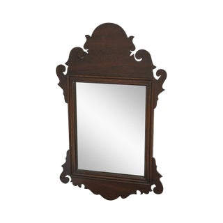 Henkel Harris Mahogany Chippendale Style Small Mirror For Sale