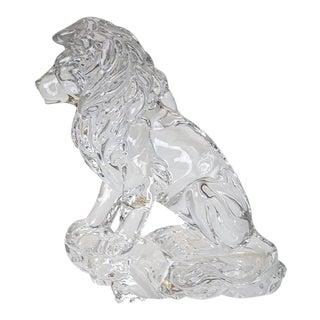 Lenox Fine Crystal Sitting Lion For Sale