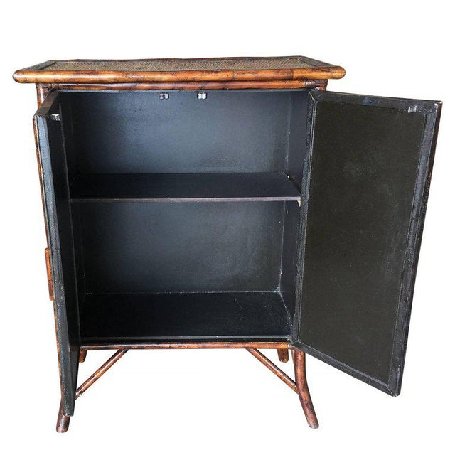 Tiger Bamboo Cabinet with Rice Mat Covering - Image 2 of 5