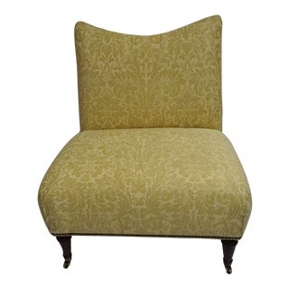 O. Henry House Slipper Chair in Fortuny Fabric For Sale