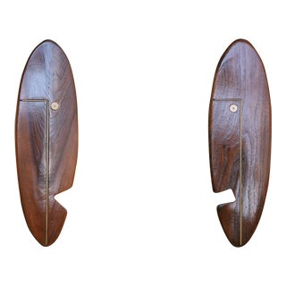 """Mid-Century """"Face"""" Wall Art Sculpture Pair by Westwood Chadwick - 50th Anniversary Sale For Sale"""