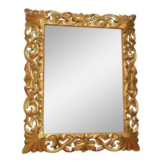 Florentine Gilt Wood MIrror For Sale