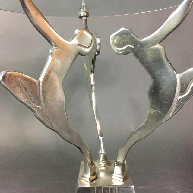 Art Deco Figural Metal Cocktail Table, Usa, 1950s For Sale In New York - Image 6 of 8