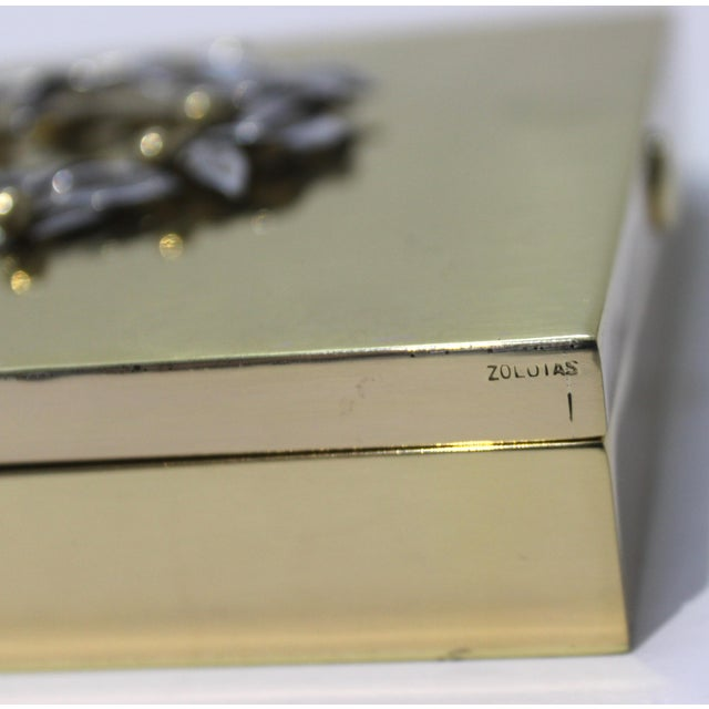 Vintage Vassilis Zoulias. Brass Box For Sale - Image 10 of 13