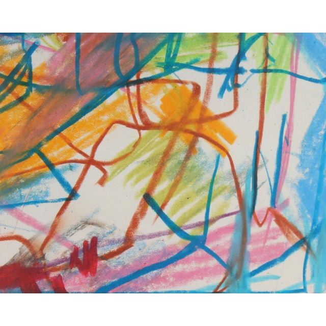 Abstract Late 20th Century Paul Chidlaw Oil Pastel Abstract Drawing For Sale - Image 3 of 8