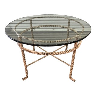 Vintage Italian Braided Iron Cocktail/Side Table For Sale