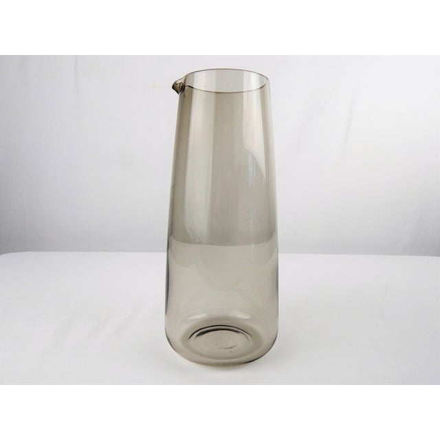 Light Gray Mid Century Smoked Glass Martini Pitcher For Sale - Image 8 of 8